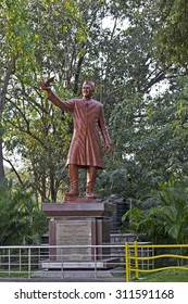 FEB 02, 2015, HYDERABAD, INDIA - Jawaharlal Nehru monument in the JN Zoo