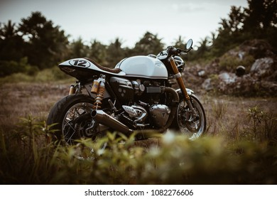 Triumph Cafe Racer Stock Photos, Images & Photography