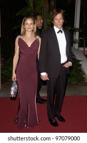 Feb 12, 2005; Beverly Hills, CA: Actor KEVIN BACON & wife actress KYRA SEDGEWICK at record mogul Clive Davis' Annual pre-Grammy party at the Beverly Hills Hotel.