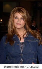 Feb 14, 2005; Los Angeles, CA: Actress KIRSTIE ALLEY at the world premiere of Be Cool, at the Grauman's Chinese Theatre, Hollywood.