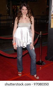 Feb 14, 2005; Los Angeles, CA: Actress MARIAH DELFINO at the world premiere of Be Cool, at the Grauman's Chinese Theatre, Hollywood.