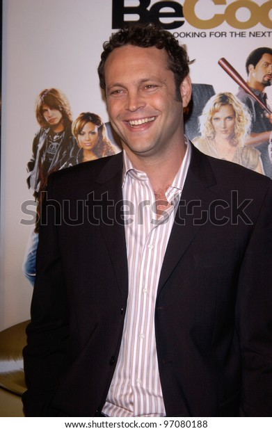 Feb 14, 2005; Los Angeles, CA: Actor VINCE VAUGHN at the world premiere of his new movie Be Cool, at the Grauman's Chinese Theatre, Hollywood.