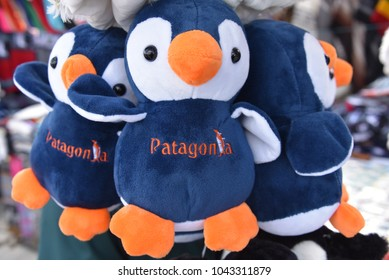 Feb 18, 2018 - Cute and cuddly Penguin toys on sale on a market stall in Punta Arenas, Chile