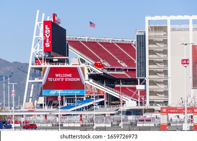 Feb 18, 2020 Santa Clara / CA / USA - Levi's Stadium, the New Home Of The San Francisco 49ers of the National Football League; Silicon Valley;
