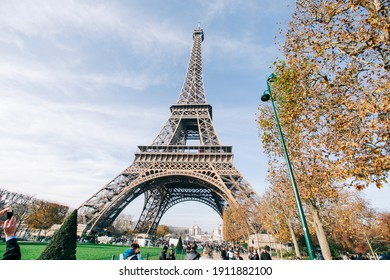 Feb, 2014 -Paris, FRANCE : Scenic View of Eiffel Tower during Autumn