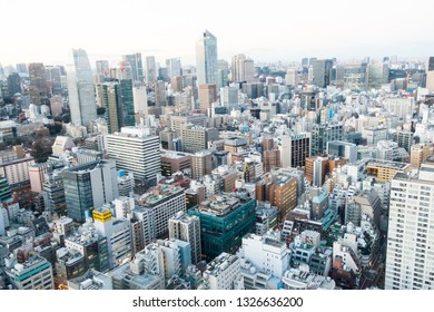 Feb 2019 - Tokyo, Japan: Cityscape of Tokyo, the most busiest city in Japan and Asia.