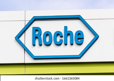 Feb 21, 2020 Belmont / Ca / USA - Roche Bina Technologies headquarters in Silicon Valley; Part of the Diagnostics division of F. Hoffmann-La Roche AG group, a Swiss multinational healthcare company