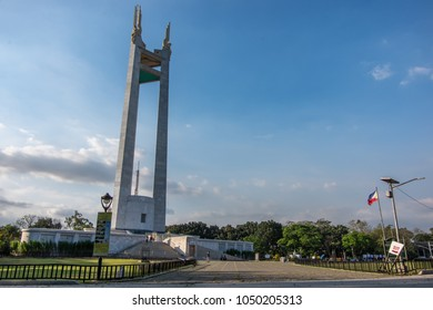 Feb 2,2018 People walking around Quezon Memorial Circle , Quezon City, Metro Manila , Philippines