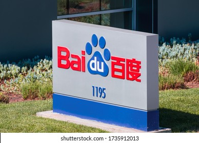 Feb 24, 2020 Sunnyvale / CA / USA - Close up of Baidu logo at their headquarters located in Silicon Valley; Baidu, Inc. is a Chinese multinational technology company