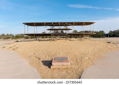 Feb 27th 2015: Wrights brothers national monument made with bronze for the first aviation in the history in Outer Banks, NC USA