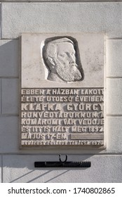 Feb 8, 2020 - Budapest, Hungary: General Gyorgy Klapka on limestone slab with his life info in Hungarian