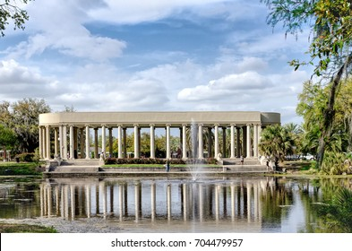 Feb.2, 2011. Peristyle in City Park is a special feature built in 1907 for parties and dancing and designed by architect Paul Andry. It is used today for parties, symphonies, other events and tourism.