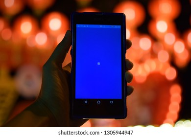 February 05, 2019 : The most popular Facebook mobile application, taken in Phuket, Thailand.