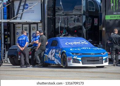 February 08, 2019 - Daytona Beach, Florida, USA: 42\ takes to the track for the Daytona 500 at Daytona International Speedway in Daytona Beach, Florida.