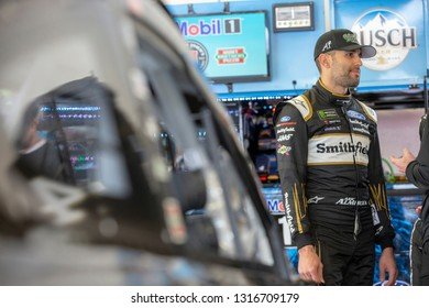 February 09, 2019 - Daytona Beach, Florida, USA: Daniel Suarez (41) takes to the track for the Daytona 500 at Daytona International Speedway in Daytona Beach, Florida.