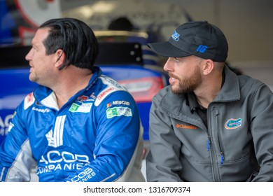 February 09, 2019 - Daytona Beach, Florida, USA: Ross Chastain (15) takes to the track for the Daytona 500 at Daytona International Speedway in Daytona Beach, Florida.