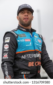 February 09, 2019 - Daytona Beach, Florida, USA: Darrell Wallace, Jr (43) takes to the track for the Daytona 500 at Daytona International Speedway in Daytona Beach, Florida.