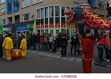 FEBRUARY 09,2013 THE HAGUE HOLLAND.Chinese New Year celebration in Den Haag Holland.