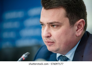 February 10, 2017. Kyiv, Ukraine. Artem Sytnyk Director of the National Anti-corruption Bureau of Ukraine (NABU).