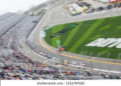 February 10, 2019 - Daytona Beach, Florida, USA: Paul Menard (21) races down the front stretch for the Advance Auto Parts Clash at Daytona International Speedway in Daytona Beach, Florida.