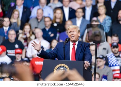 February 10, 2020, MAnchester, New Hampshire: President Donald Trump held a rally at South New Hampshire University Arena in Manchester