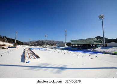 February 11, 2017 ; The Biathlon Stadium of the Alpensia ResortIt which will host the 2018 Pyeongchang Winter Olympic Games hosted the 14th National Winter Para Games in South Korea Feb. 9 - 11, 2017.
