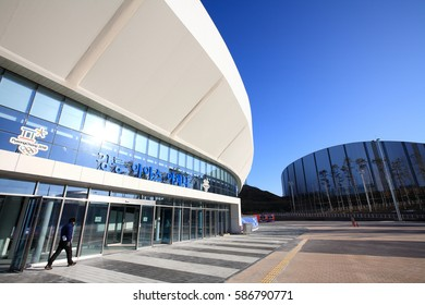 February 11, 2017 : The Gangneung Ice Arena which will host 2018 Pyeongchang Winter Olympic Games was checked before 2016/2017 season World Cup short Track Competition on February 16-17,2017.