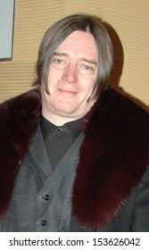 "FEBRUARY 12, 2006 - BERLIN: Blixa Bargeld at the premiere of the documentary film ""Leonard Cohen - I am Your Man"" at the Berlinale Film Festival, Kino Babylon, Berlin."