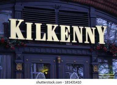 "FEBRUARY 12, 2014 - BERLIN: the logo of the brand ""Kilkenny"", Berlin."
