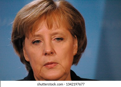 FEBRUARY 13, 2007 - BERLIN: Angela Merkel - meeting of the German Chancellor with the British Prime Minister, Chanclery.