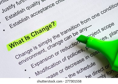 February 13, 2015: Dhaka, Bangladesh (Illustrative Editorial) - what is change sentence highlighted by green marker