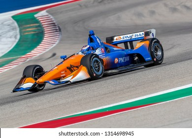 February 13, 2019 - Austin, Texas, USA: SCOTT DIXON (9) of New Zealand goes through the turns during practice for the IndyCar Spring Test at Circuit Of The Americas in Austin, Texas.