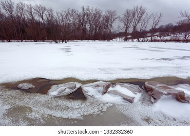 February 13, 2019 Windsor, Ontario Snow Covered Malden Park