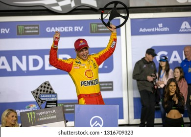 February 14, 2019 - Daytona Beach, Florida, USA: Joey Logano (22) wins the Gander RV Duel 2 at Daytona International Speedway in Daytona Beach, Florida.