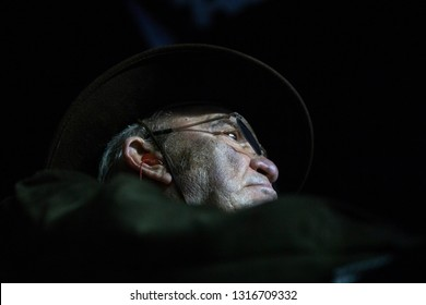 February 14, 2019 - Daytona Beach, Florida, USA: Jack Roush watches as his team races for the Gander RV Duel 1 at Daytona International Speedway in Daytona Beach, Florida.