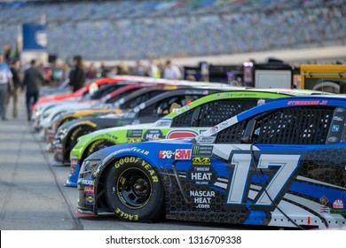 February 14, 2019 - Daytona Beach, Florida, USA: Ricky Stenhouse, Jr (17) races for the Gander RV Duel 1 at Daytona International Speedway in Daytona Beach, Florida.