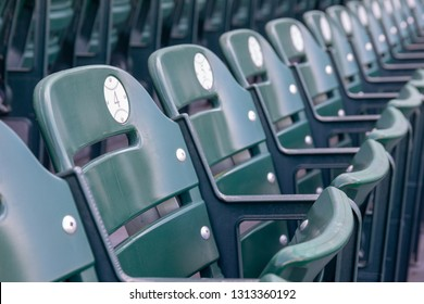FEBRUARY 14, 2019, LAKELAND, FL: Beautiful Publix Field at Joker Marchant Stadium prepares for the 2019 Detroit Tigers and spring training. Fan seating. Chair 4 is focal point.