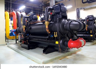 February 14, 2020. Bangkok. Thailand.Insulated black rubber for chiller because old black rubber insulation deterioration.Blurred on background.New Insulated black rubber.