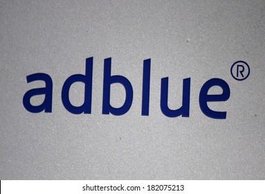 "FEBRUARY 15, 2014 - BERLIN: the logo of the brand ""Adblue"", Berlin."