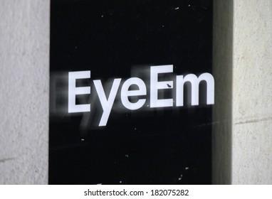 """FEBRUARY 15, 2014 - BERLIN: the logo of the brand """"Eye Em"""", Berlin."""