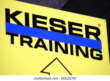 "FEBRUARY 15, 2014 - BERLIN: the logo of the brand ""Kieser Training"", Berlin."
