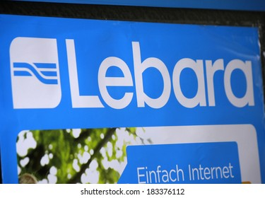 "FEBRUARY 15, 2014 - BERLIN: the logo of the brand ""Lebara"", Berlin."