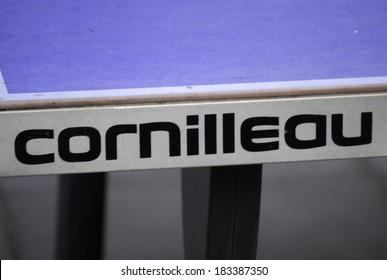 "FEBRUARY 15, 2014 - BERLIN: the logo of the brand ""Cornilleau"", Berlin."