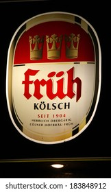 "FEBRUARY 15, 2014 - BERLIN: the logo of the brand ""Frueh Koelsch"", Berlin."