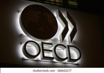 "FEBRUARY 15, 2014 - BERLIN: the logo of the brand ""OECD"", Berlin."