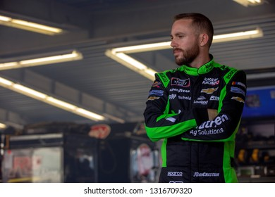 February 15, 2019 - Daytona Beach, Florida, USA: Ross Chastain takes to the track to practice for the Daytona 500 at Daytona International Speedway in Daytona Beach, Florida.