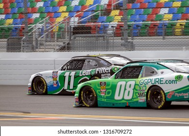 February 16, 2019 - Daytona Beach, Florida, USA: Justin Haley (11) battles for position at the NASCAR Racing Experience 300 at Daytona International Speedway in Daytona Beach, Florida.