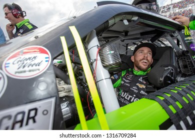 February 16, 2019 - Daytona Beach, Florida, USA: Ross Chastain (10) gets ready for the NASCAR Racing Experience 300 at Daytona International Speedway in Daytona Beach, Florida.