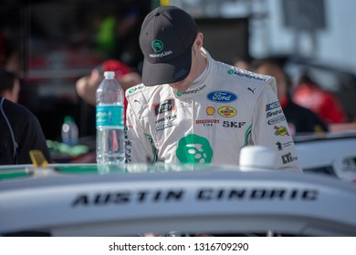 February 16, 2019 - Daytona Beach, Florida, USA: Austin Cindric (22) takes to the track to qualify for the NASCAR Racing Experience 300 at Daytona International Speedway in Daytona Beach, Florida.