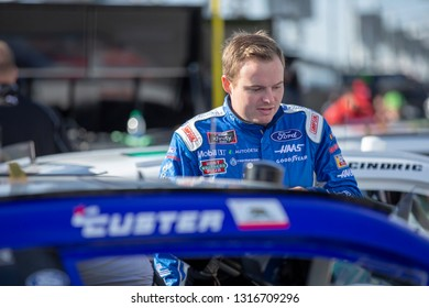 February 16, 2019 - Daytona Beach, Florida, USA: Cole Custer (00) takes to the track to qualify for the NASCAR Racing Experience 300 at Daytona International Speedway in Daytona Beach, Florida.